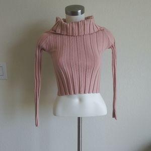 ZARA junior top size S pink color collar collar lo